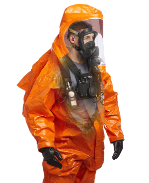 Talk Through Your Ears Equipment within HazMat suit